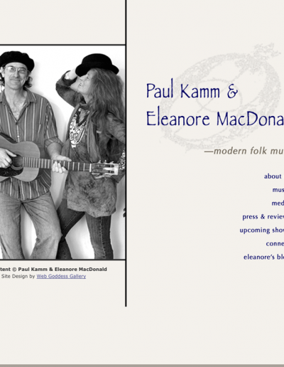 Paul Kamm & Eleanore MacDonald